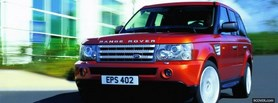 free range rover red car facebook cover