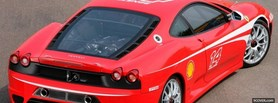 free back of ferrari f430 challenge facebook cover