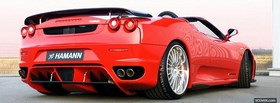 back of ferrari f430 spider facebook cover