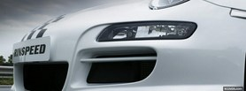 close up white porsche rinspeed facebook cover