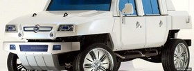 free white fiat hummer car facebook cover