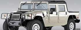 free white hummer h1 car facebook cover