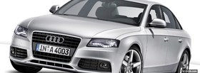 free 2008 silver audi a4 facebook cover