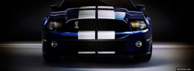free blue and white shelby car facebook cover