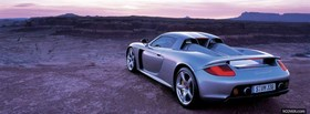 porsche carrera gt car facebook cover