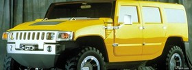 yellow hummer h2 car facebook cover
