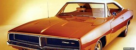 1969 dodge charger car facebook cover