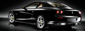 luxurious black ferrari facebook cover