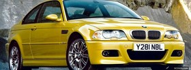 yellow bmw m3 car facebook cover
