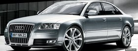 free audi s8 silver facebook cover