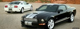 two shelby mustang cars facebook cover