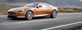 aston martin virage car facebook cover