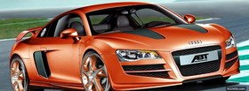 audi orange car facebook cover