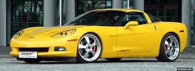 corvette c6 yellow car facebook cover