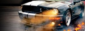 mustang close up car facebook cover