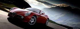red alfa romeo car facebook cover