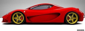 free side of red ferrari facebook cover