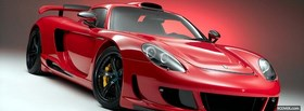 porsche carrera gt red facebook cover