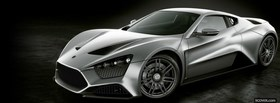 silver zenvo st1 car facebook cover