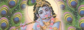 lord krishna playing on the flute facebook cover