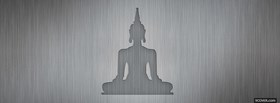 religions grey drawed buddha facebook cover