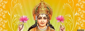 lord mahalakshmi holding flowers facebook cover