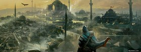 free assasins creed destroyed city facebook cover