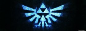 free legend of zelda neon blue facebook cover