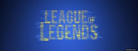 free yellow and blue league of legends facebook cover