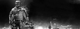 free black and white battlefield video games facebook cover
