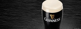 free guinness beer in a glass facebook cover