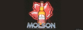 molson beer and canadian leaf facebook cover