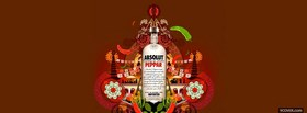 free absolut peppar alcohol facebook cover