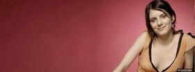 celebrity melanie laurent smirking facebook cover