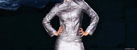 celebrity jessica alba in silver clothes facebook cover