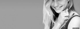 free glorious black and white cameron diaz facebook cover