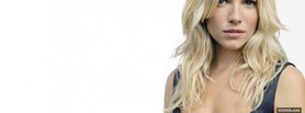 black and white hot blond woman facebook cover