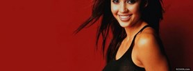 cute celebrity jessica alba facebook cover