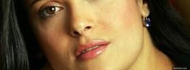 face close up salma hayek facebook cover