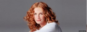 celebrity julia roberts curly red hair facebook cover
