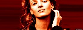 confident celebrity uma thurman facebook cover
