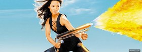 celebrity lucy liu in action facebook cover