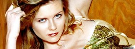 elegant beauty kirsten dunst facebook cover