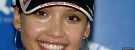 celebrity jessica alba with cap facebook cover