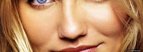 face close up cameron diaz facebook cover