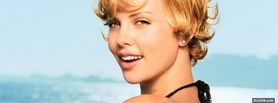 glowing short hair charlize theron facebook cover