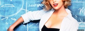 free charlize theron with writing board facebook cover