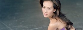 free celebrity maggie q long hair facebook cover
