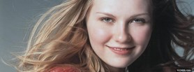celebrity delightful kirsten dunst facebook cover