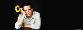 free elijah wood with flower facebook cover